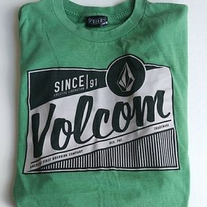 Volcom Green Graphic Tee Crewneck